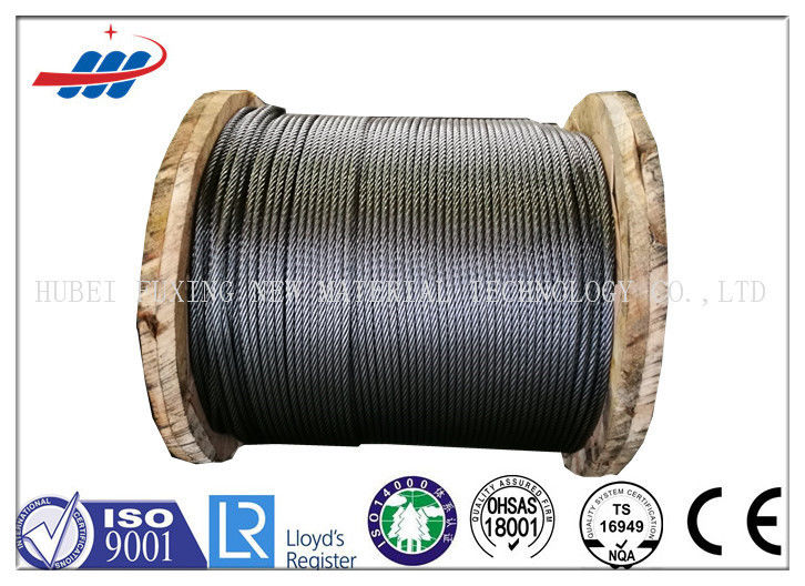 Tower Crane Wire Rope Construction , Steel Cable Wire Rope 1570-1960MPA